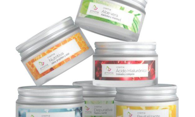 Crema ácido hialurónico, crema colágeno, cosmética 100% reciclable de Armonía